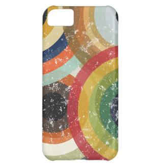 Retro style circles pattern iPhone 5C case