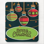 Retro style colourful Christmas greeting Mouse Pad