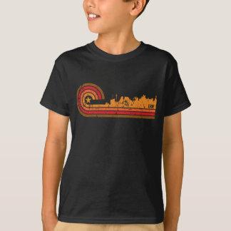 Retro Style Erie Pennsylvania Skyline Distressed T-Shirt