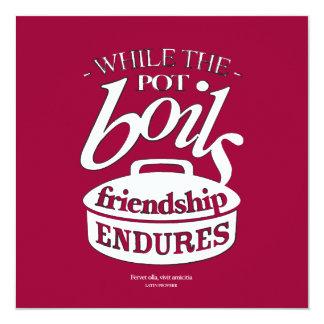 Retro-style food & friendship invitation card