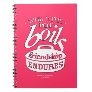 Retro-style food & friendship notebook