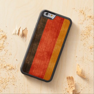 Retro Style Germany Flag Wooden Phone Case