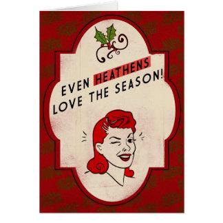 Retro-style Heathen Holiday Card