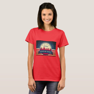 Retro Style Houston Skyline T-Shirt