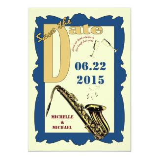 Retro Style Jazz Save the Date Custom Invites