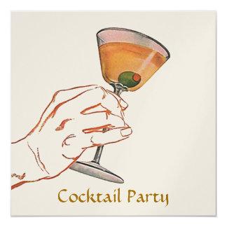 Retro Style Martini Party Bar Invitation Cocktail
