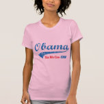 """Retro Style Obama """"Yes We Can"""" T Shirt"""