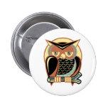 Retro Style Owl Button