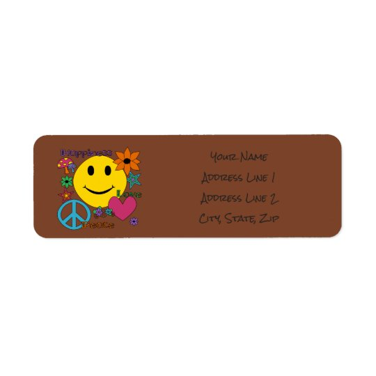 Retro Style - Personalise Return Address Label