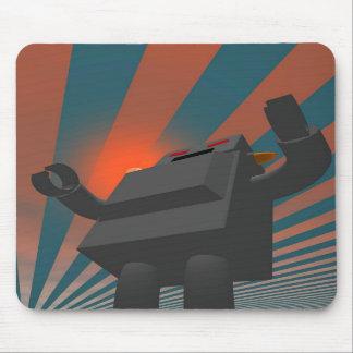 Retro Style Robot 4 Mousepad