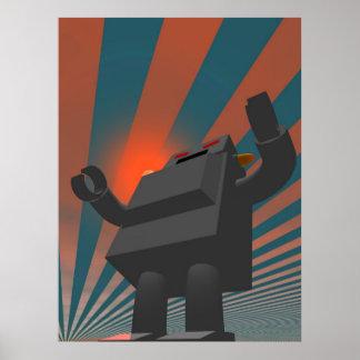 Retro Style Robot 4 Print