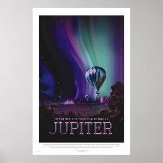 Retro Style Space Travel Poster - Jupiter