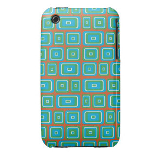 Retro style square and rectangle pattern iPhone 3 covers