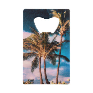 Retro Style Tropical Island Palm Trees