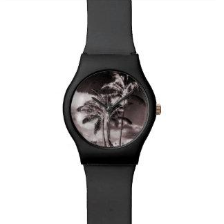 Retro Style Tropical Island Palm Trees Watch