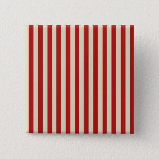 Retro Style Vertical PopCorn Classic Stripes 15 Cm Square Badge
