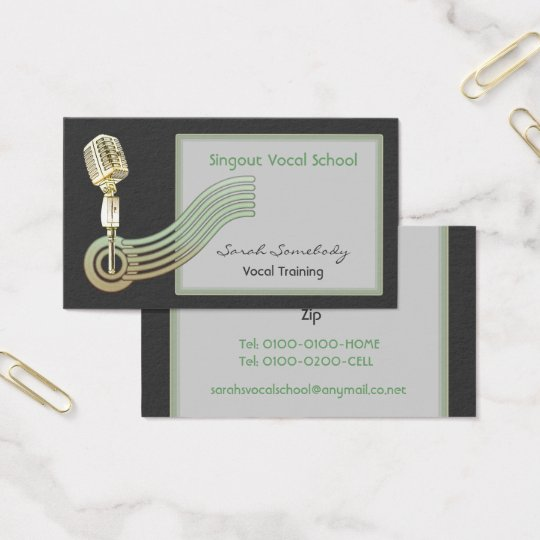 Retro Style Vintage Mic Business Cards