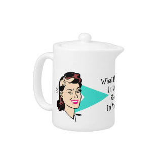 Retro Style Wink Teapot Any Fun Sentiment!