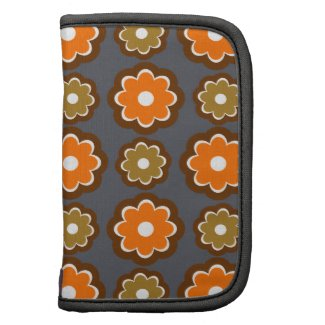 Retro style with blossoms organizers