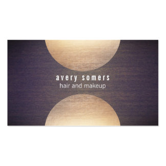 Retro Stylist Gold Circle and Wood Grain Mod Hip Pack Of Standard Business Cards