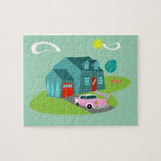 Retro Suburban House Puzzle