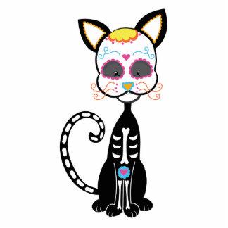 Retro Sugar Skull Cat Acrylic Cut Out