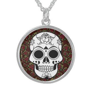 Retro Sugar skull red Customizable Necklace