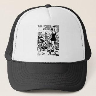 Retro Summer at the Beach Trucker Hat