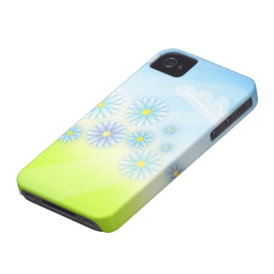retro summer flowers in a field design iPhone 4 covers
