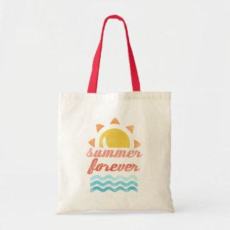 Retro Summer Forever Budget Tote Bag