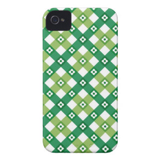 Retro Summer Green Checks Plaid iPhone 4 CaseMate iPhone 4 Case-Mate Case