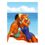 Retro Summer Lovers Postcard