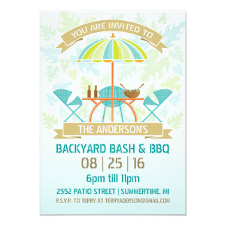 Retro Summer Party Invitation