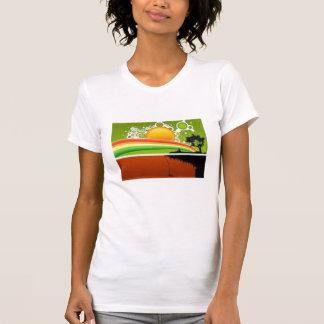 retro sun rainbow view T-Shirt
