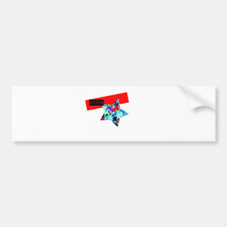 Retro Superstar In Day-Glo Bumper Sticker