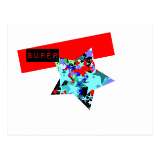 Retro Superstar In Day-Glo Postcard