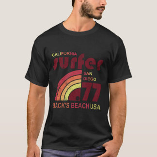 Retro Surf Blacks Beach California T-Shirt