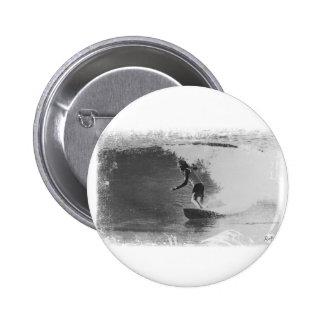 retro surf wear 6 cm round badge