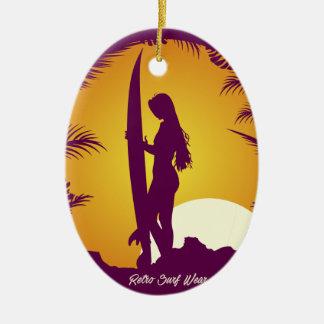 Retro Surf Wear Christmas Ornament