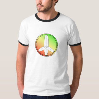 Retro Surfboard Peace Sign T-Shirt