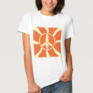 Retro Surfboard Peace Sign Tee Shirts