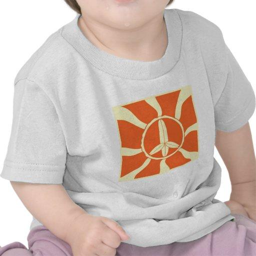 Retro Surfboard Peace Sign Tee Shirt