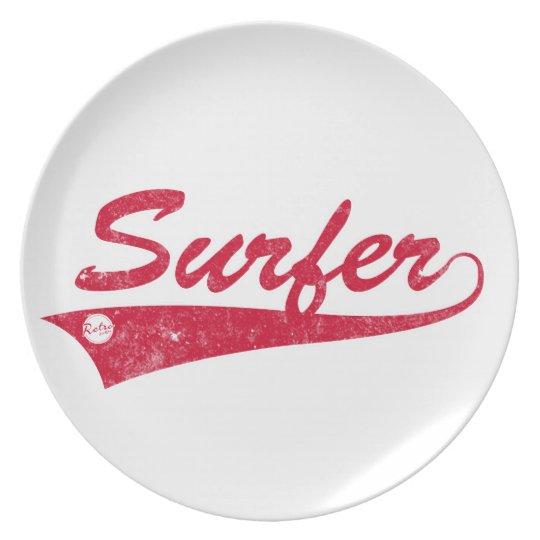 Retro Surfer Plate