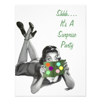Retro Surprise Party For Any Occasion Invitations