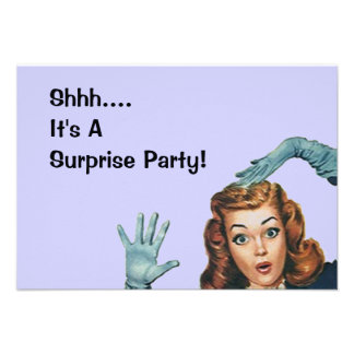 Retro Surprise Party Fun Expression Vintage Style Custom Announcements