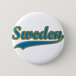 Retro Sweden 6 Cm Round Badge