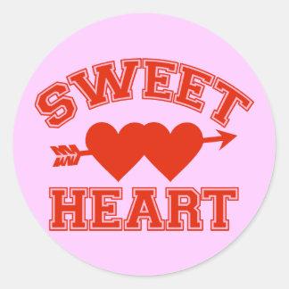 Retro Sweetheart Round Sticker