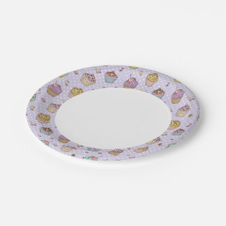 Retro Sweets Pattern 7 Inch Paper Plate