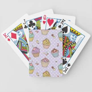 Retro Sweets Pattern Bicycle Playing Cards