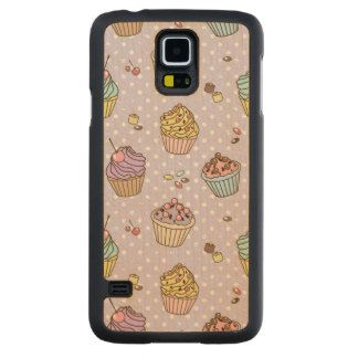 Retro Sweets Pattern Carved Maple Galaxy S5 Case